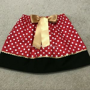 Minnie insp. Red & White Polka Dot Skirt